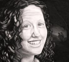 Self Portrait in Charcoal by Paintsmudger