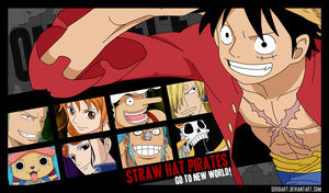 Straw Hat Pirates - Go to the New World by SergiART