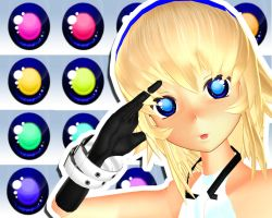MMD Inverted Eye Texture by Xoriu