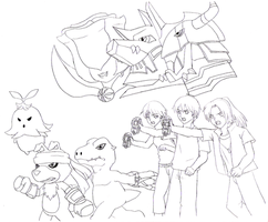 Digimon Savers Lineart D8 by BlackKnight911