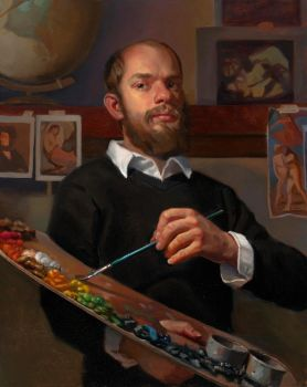 Self-Portrait with Palette by Cefalo