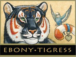Ebony Tigress Badge by synnabar