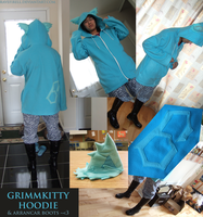 GrimmKitty Hoodie by ravefirell