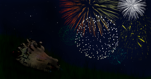 Palomino Fireworks by Coralstar51199