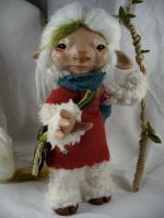 Caelie - OOAK posable art doll by mammalfeathers