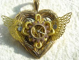sailor moon steampunk locket by TimelessCharm