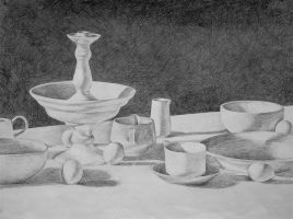 Porcelain Still Life by MadStar