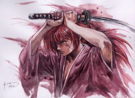 Kenshin - Readying for a Fight by Nick-Ian