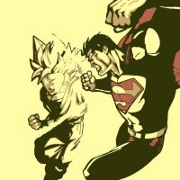 Goku vs Superman by DevintheCool