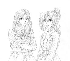 Kara and Kahlan WIP for ThineDreamer by Yamigirl21