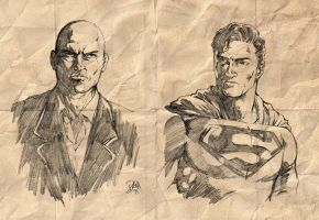 Brain vs Brawn - Luthor vs Superman by donnyg4