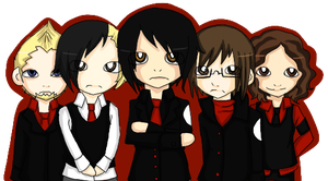 Chibi MCR by StardustSavior