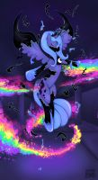 Princess Luna Breaking Free by SleepyHeadKL