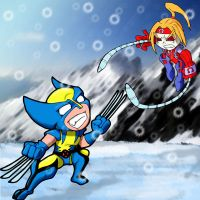 Wolverine Vs OmegaRed GvE by The-Frost