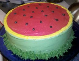 Watermelon Cake by KauseNeffect