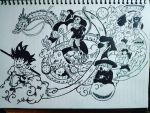 dragon ball sketch 153 by Beastopop