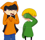 Numbuh 3 and 4 - Clothes Swap by ludmilabb2