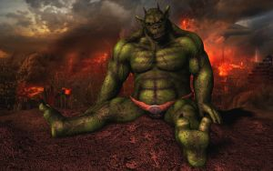 Javathzmodan the green Demon (no blood) by Spino2006