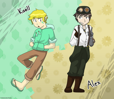 Request: Kaell and Alex by tonkonton