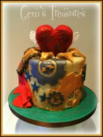 Steam Punk Heart Cake by gertygetsgangster