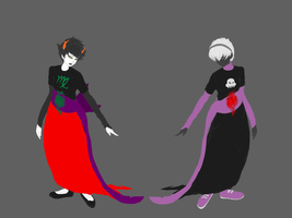 Homestuck Parallel WIPs by IntertwinedPrecipice