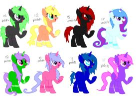 POINT pony adopts c: OPEN by Rainbow-ninja-adopts