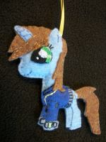 Little Pip from Fallout Equestria Pony Ornament by grandmoonma