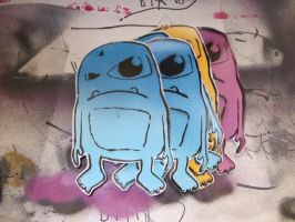 Stenciled Sticker by Monster-one
