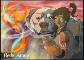 Legend of Korra -Balance Inside - Speedpaint too by FleshCreature