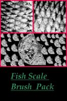 Fish Scale Photoshop Brush by artszy