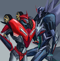 Starscream x Knockout by Keun-mist