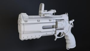 Revolver from brink game WIP by OneTwoThreeSquare