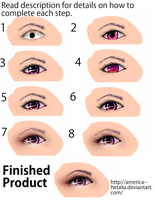 How to Draw a Semi Realistic Eye Tutorial by America--Hetalia