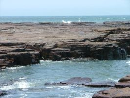 Rocks, water in front by astrals-stock
