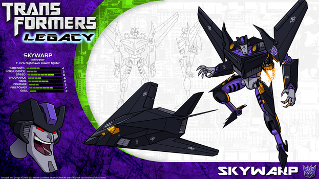 Transformers Legacy: Skywarp by CyRaptor