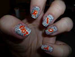 Paramore RIOT Nail Art by kkmaree