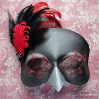 Ravenna Crow Leather Bird Mask by Beadmask