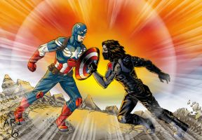 Captain America VS The Winter Soldier by ari-6