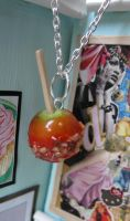 Candy Apple With Nuts Charm by LittleSweetDreams