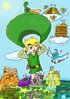 Zelda:Coming from the skies by Just-A-Michael