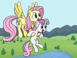 Sweetie Belle Can Fly and Stuff 2.0 by Bill-the-Pony