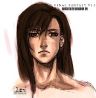 FFVII EX-- TIFA SKETCH by DarkChildx2k