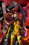 Gambit and Rogue on fire by IvannaMatilla