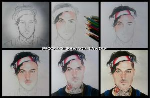 Progress drawing yelawolf by Tropical-Rain