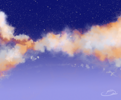 cloud painting experiment by b-eii