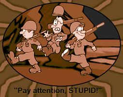 'Pay attention STUPID and quo by dendarr
