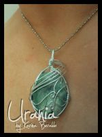 Amazonite Wire Wrap Pendant by kaberaldo