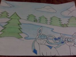 Glaceon Love *-* by LizSch