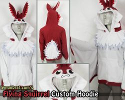 Flying Squirrel Custom Hoodie! by lemonbrat