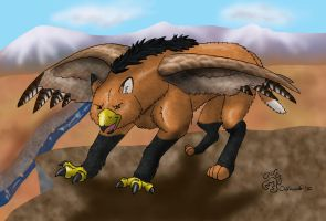 Red-Tailed Maned Wolphyon by oakleafwolf